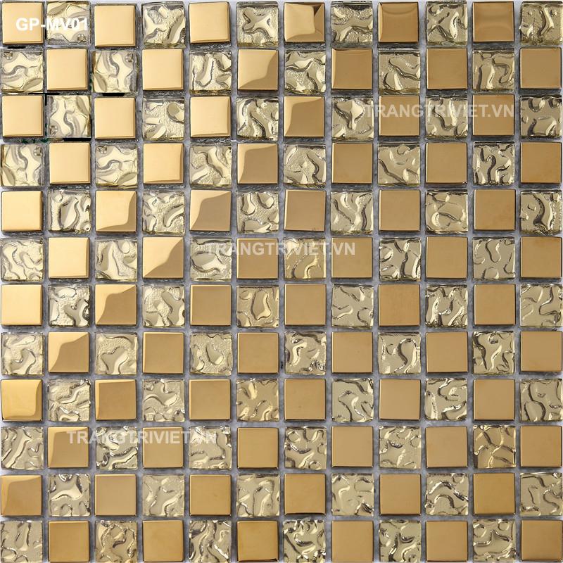 Gạch Mosaic mạ vàng